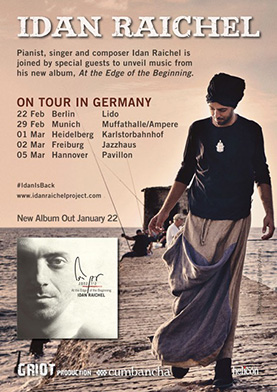 Plakat: Idan Raichel. At the Edge of the Beginning. On Tour in Germany (2016)